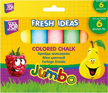 Мел цветной JUMBO 6 шт. в картонной упаковке с подвесом