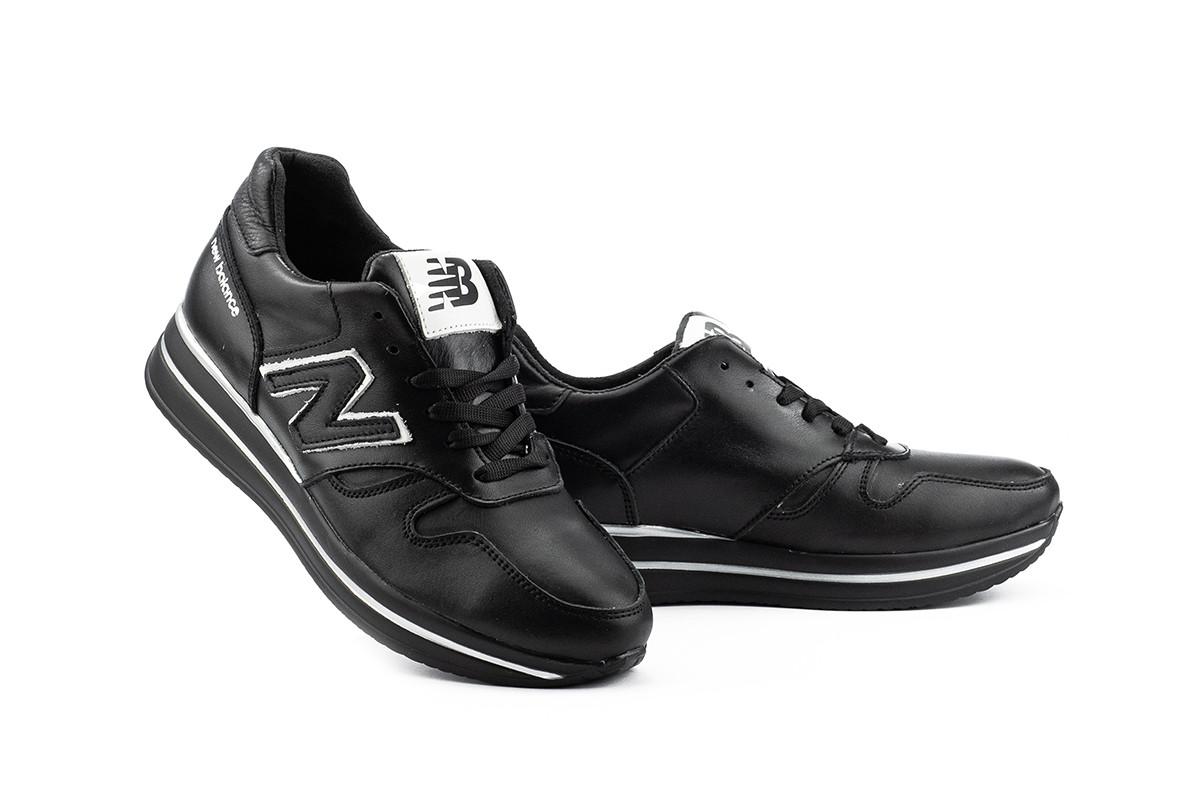 Женские кроссовки кожаные весна/осень черные Lions NB Black Edition