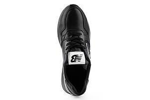 Женские кроссовки кожаные весна/осень черные Lions NB Black Edition, фото 2