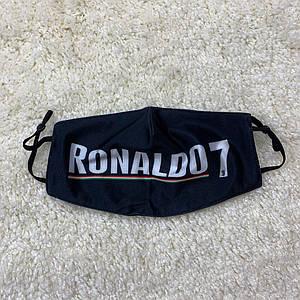 Багаторазова Захисна маска Роналду (Ronaldo) чорна