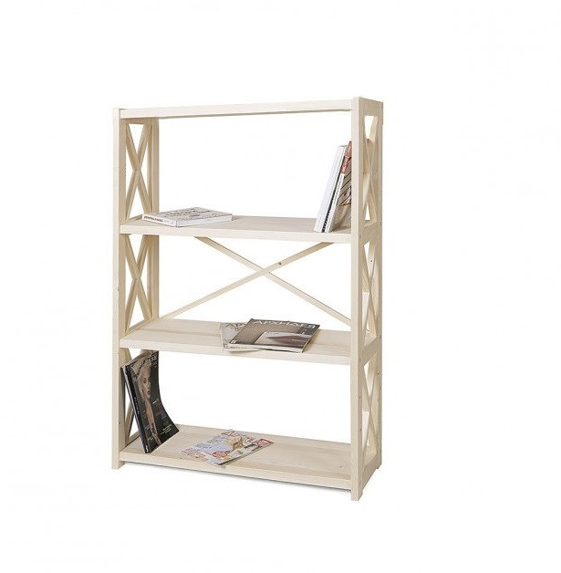 Стелаж для книг дерев'яний 4 полиці RAN4