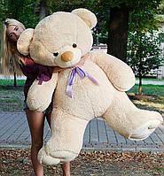 Плюшевый медведь 180 см медовый, красивая мягкая игрушка мишка