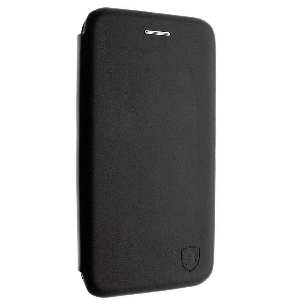 Чехол-книжка для Xiaomi redmi note 7 цвет Черный, кожаный