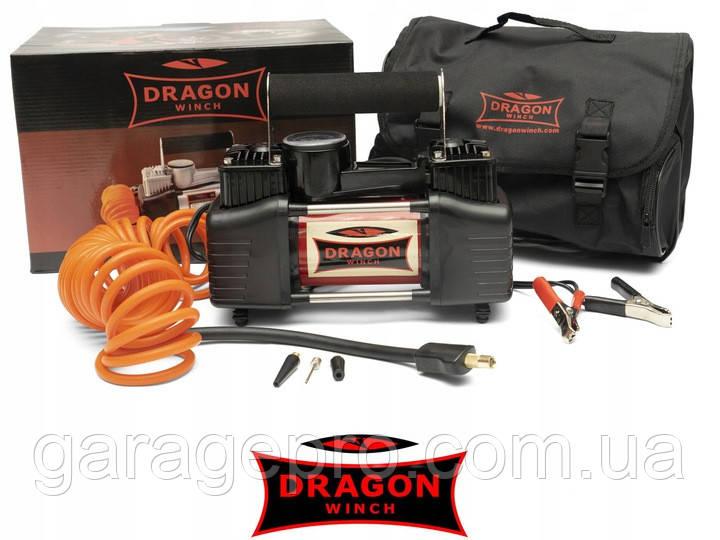 Портативный компрессор Dragon Winch DWK-S с фонарем (60 л/мин)