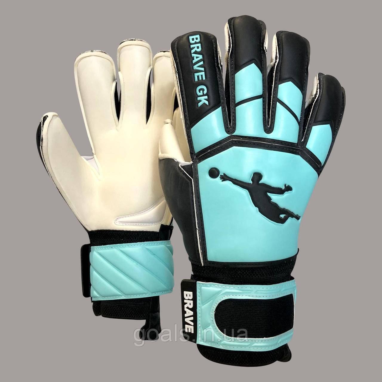 Перчатки вратарские BRAVE GK WINNER BLACK/TURQ Р.4
