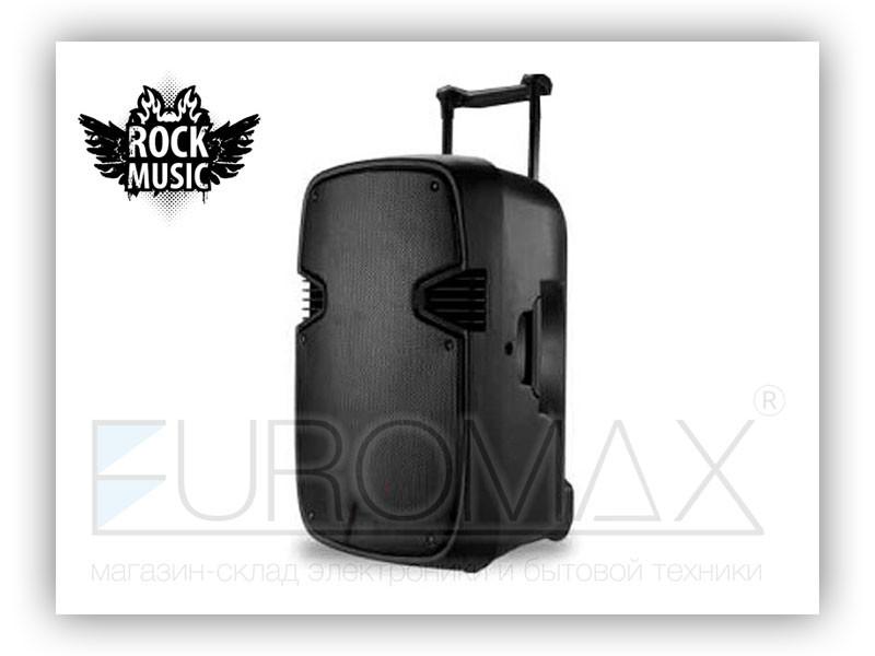 Акустическая переносная колонка Rock Music 60Вт 15 дюймов 70x45x36см USB/SD/FM/BT/1MIC/Guitar MS-15TSB
