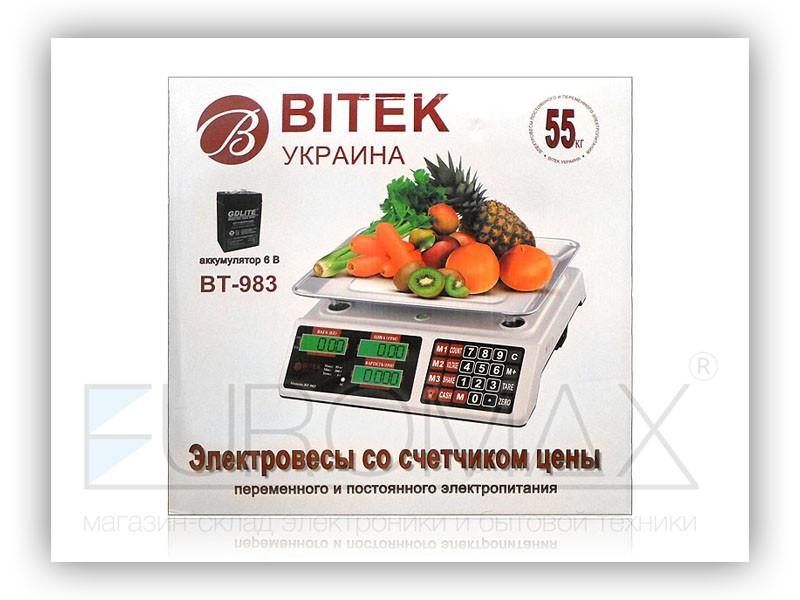 Весы электронные торговые BITEK 55кг 6В 5шт BT-983