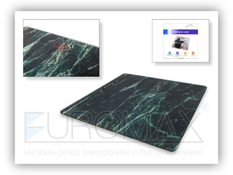 Весы электронные бытовые 180кг стеклянные квадратные LED экран YZ-1604D 10шт 9860