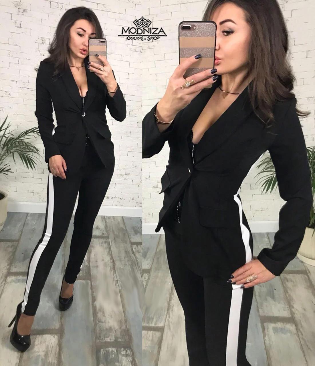 """Брючный женский костюм из габардина """"Flex"""""""