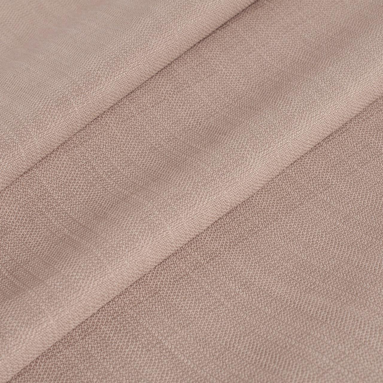 Ткань рогожка фактурная однотонная бежево-персиковая для штор