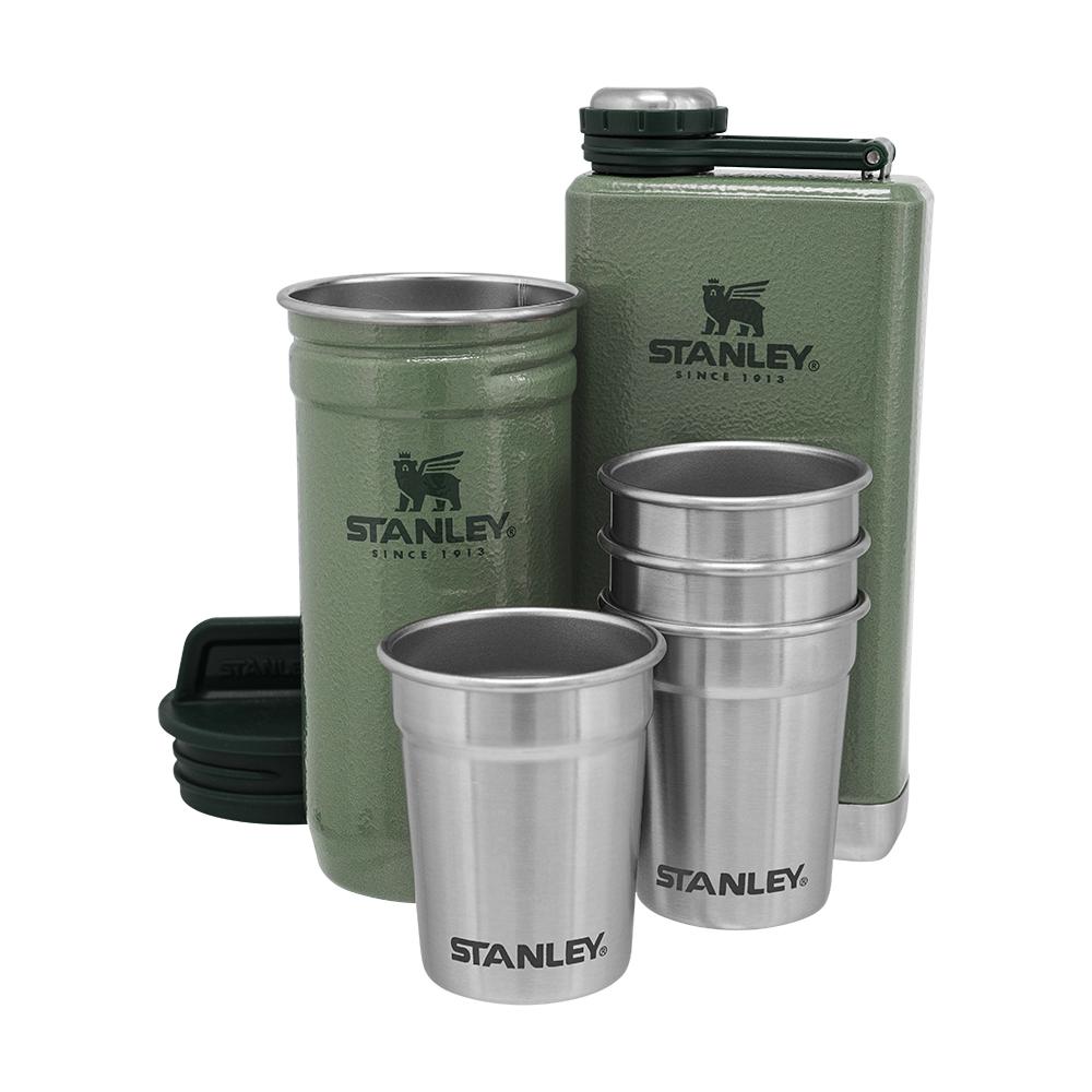 Подарунковий набір фляга з чарками Stanley Adventure Hammertone Green 2 фляги і 4 чарки