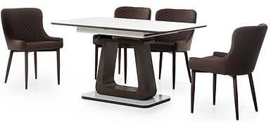 Стол раскладной 140/180 ТМL-521 Белый/венге TM Vetro Mebel
