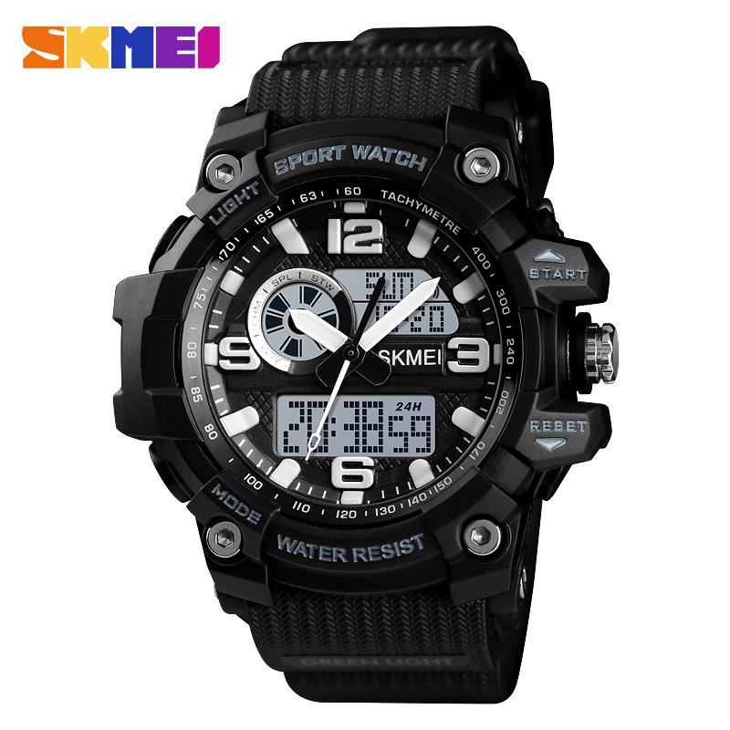 Skmei 1436 черные мужские спортивные часы