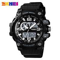 Skmei 1436 черные мужские спортивные часы, фото 1