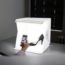 Лайткуб (photobox) з LED підсвічуванням для предметної макрозйомки з чохлом