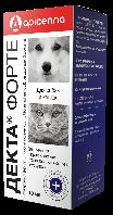 Капли Декта Форте 10мл для лечения и профилактики отодектоза, саркоптоза и нотоэдроза у собак и кошек