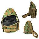 Сумка рюкзак через плечо дорожная камуфляж 150714, фото 4