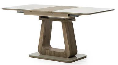 Стол раскладной 120/160 ТМL-521-1 матовый капучино + дуб TM Vetro Mebel