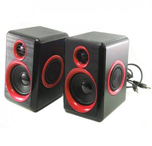 Акустическая система колонки для ПК Prime FT-165 Черно-красные, фото 2