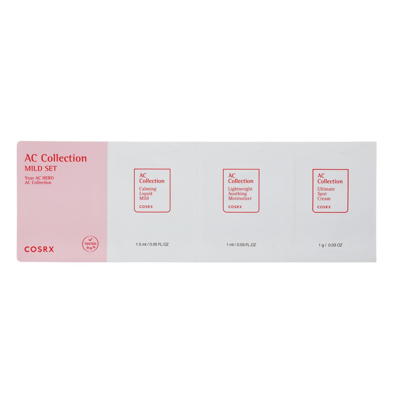 Успокаивающий набор пробников для проблемной кожи COSRX AC Collection MILD SET (Sachet), 1ea