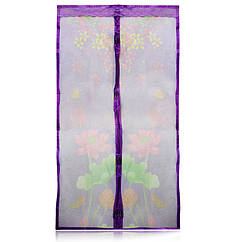 Противомоскитные магнитные шторы Magic Mesh фиолетовые