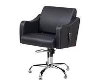 Крісло перукарське Sorento на пневматиці з хромованою хрестовиною