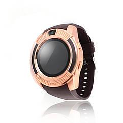 Розумні смарт годинник Smart Watch V8 мідні