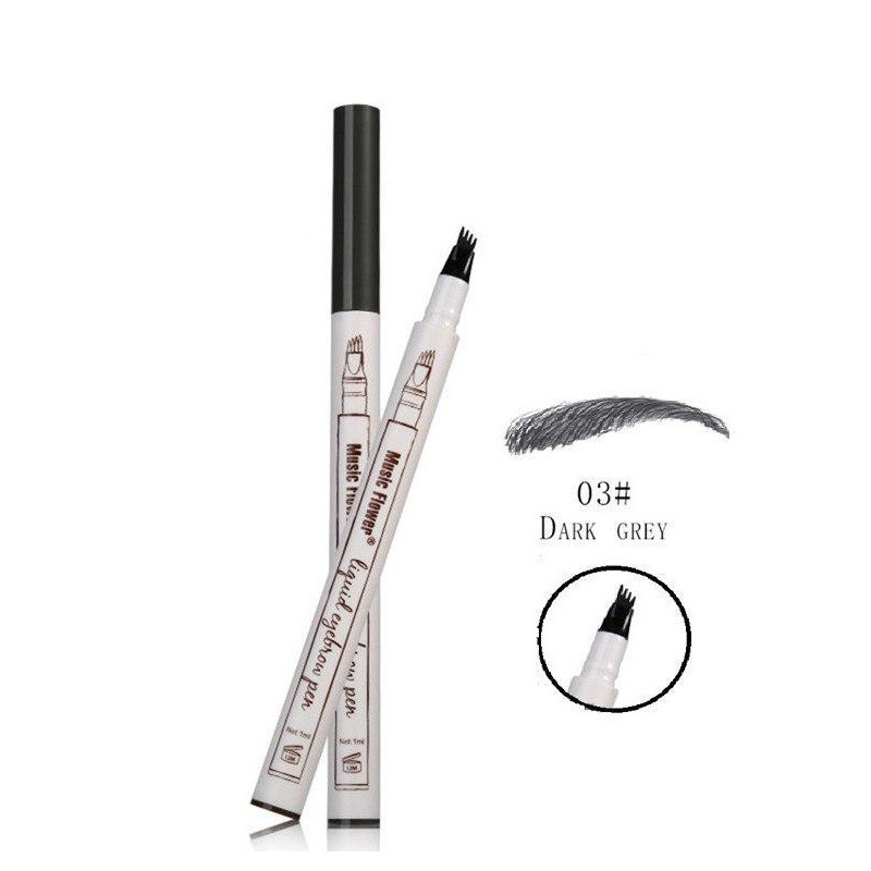 Жидкий карандаш с эффектом тату для бровей Music Flower 03# Dark Grey темно-серый 150740