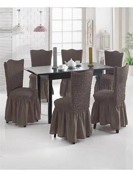 Чехлы для стульев с рюшем жатка-креш