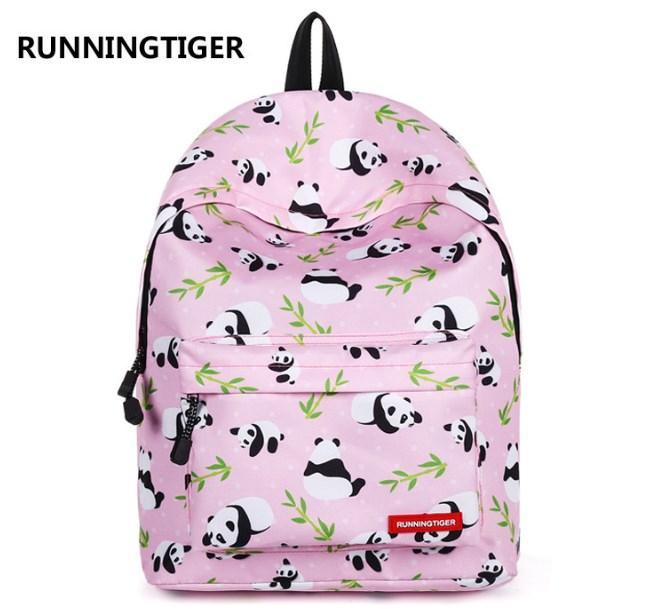 Рюкзак розовый Панды