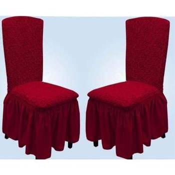 Чехлы для стульев жаккардовые с рюшем