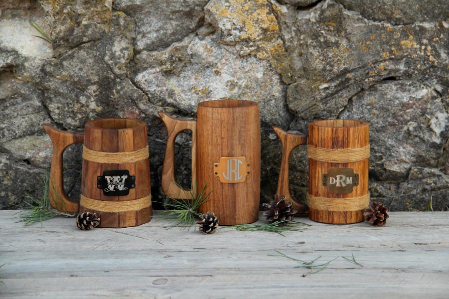 Дерев'яний пивний келих. Цілісний келих для хмільних напоїв. Оригінальний подарунок чоловікові хлопцеві коханому чоловікові