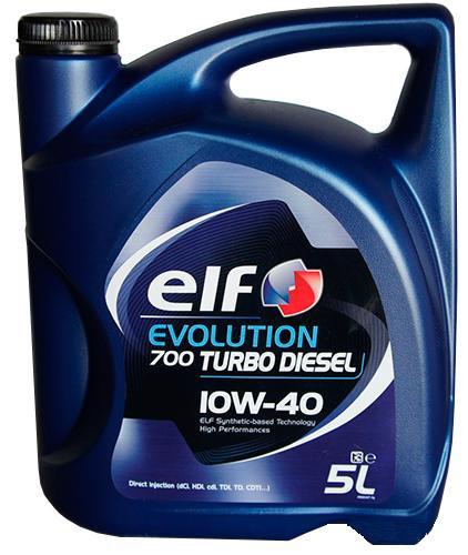 Моторное масло ELF Evolution 700 Turbo Diesel 10W40 5 л (201553)