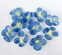 Цветы шелковые гортензия 10 шт_ГОЛУБОЙ темный, фото 1