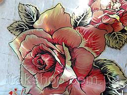 Мягкое стекло Скатерть с лазерным рисунком для мебели Soft Glass 2.3х0.8м толщина 1.5мм Красная роза, фото 2