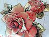 М'яке скло Скатертину з лазерним малюнком для меблів Soft Glass 2.3х0.8м товщина 1.5 мм Червона троянда, фото 3