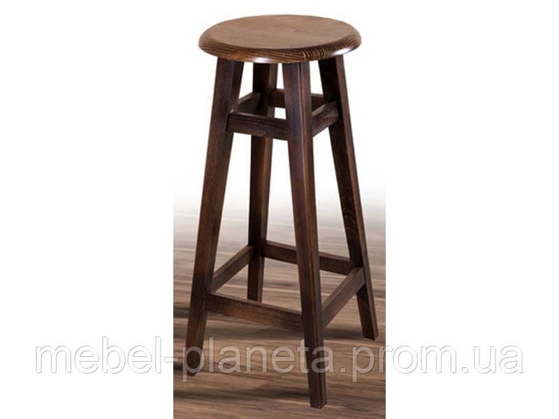 Барний круглий стілець з дерева (Мікс меблі)