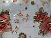 Мягкое стекло Скатерть с лазерным рисунком для мебели Soft Glass 2.7х0.8м толщина 1.5мм Красная роза, фото 6