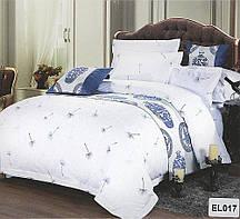 Красивый, прочный комплект постельного белья из сатина белый одуванчик