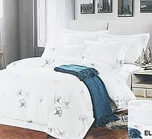 Красивый, прочный комплект постельного белья из сатина белый узор