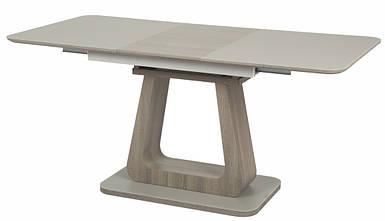 Стол раскладной ТМL-521-1 матовый серый + серый дуб (120-160*80*76(Н) TM Vetro Mebel