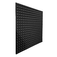 Акустичний поролон EchoFom Піраміда 40 мм 100x100 см Чорний графіт