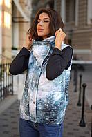 Женская жилетка больших размеров с абстрактным узором, фото 1