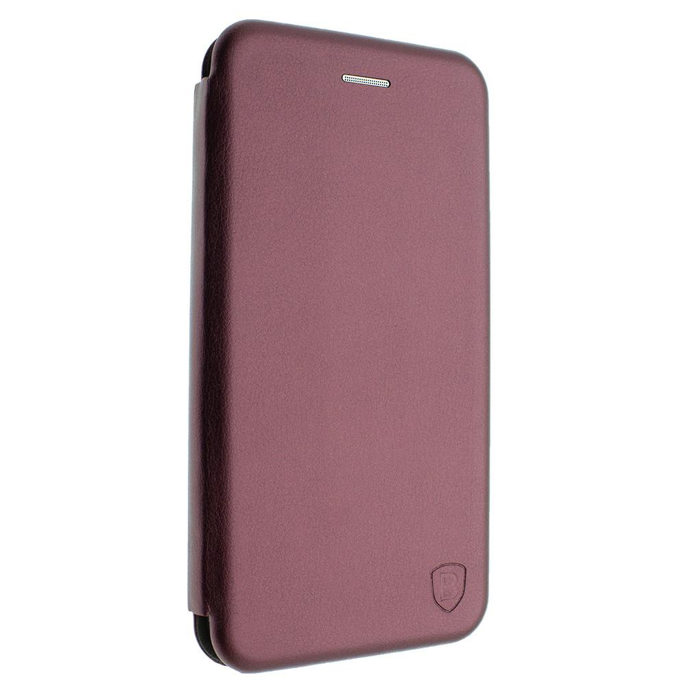 Чехол-книжка для Huawei P40 Lite цвет бронза, кожаный