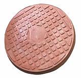 Люк полимерпесчаный коричневый (1 т.) 690/750, фото 3
