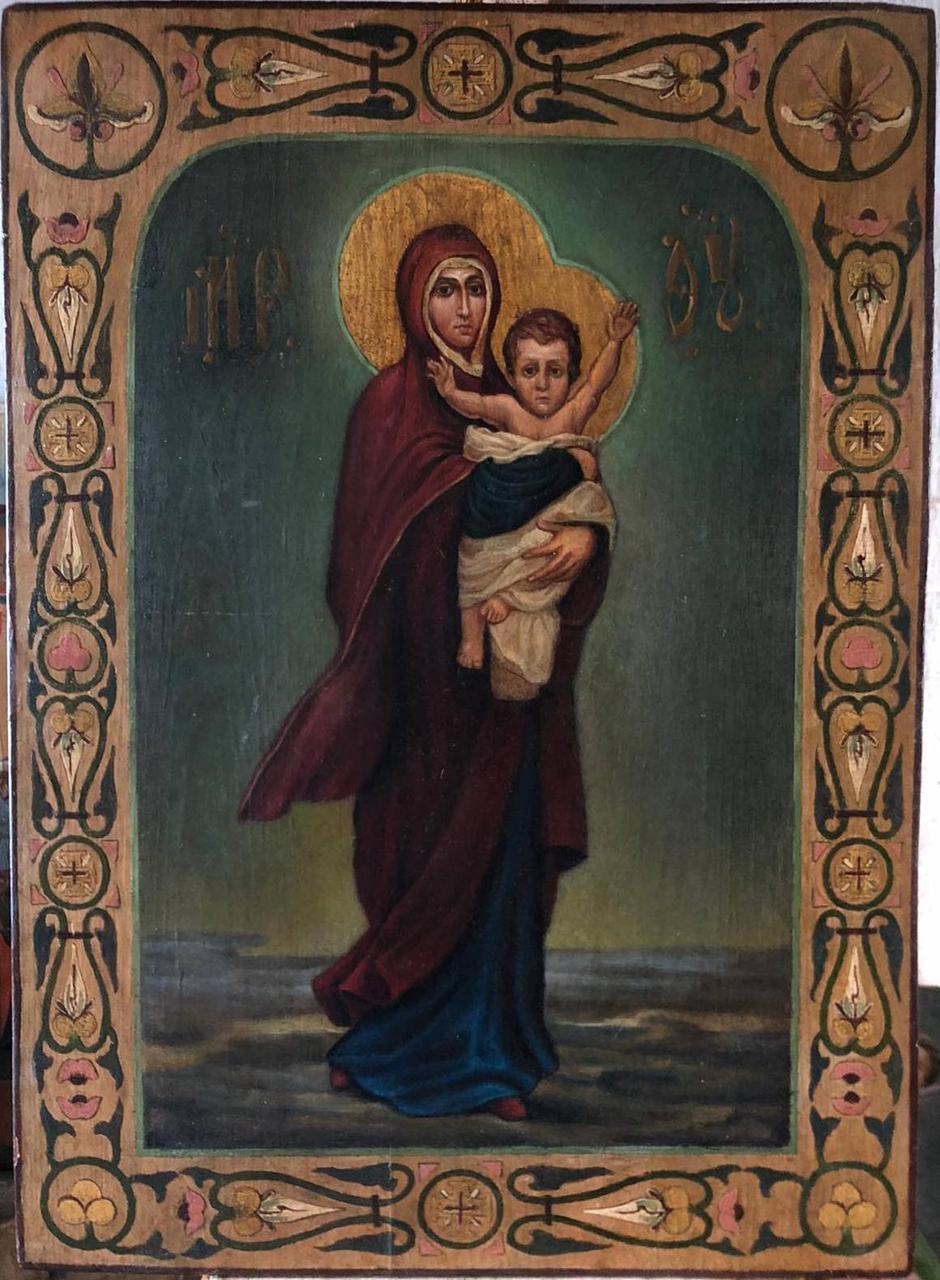 Икона Богородицы Благодатное небо 19 век