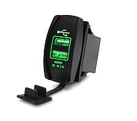 Зарядное автомобильное устройство Car Charger dual USB 3.1 А Зеленый