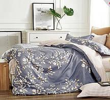 Очаровательное, практичное постельное белье сатин евро комплект серый