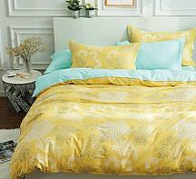 Очаровательное, практичное постельное белье сатин евро комплект желтый