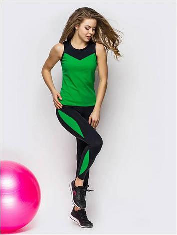 Костюм для фітнесу зелений з чорним 70050, фото 2